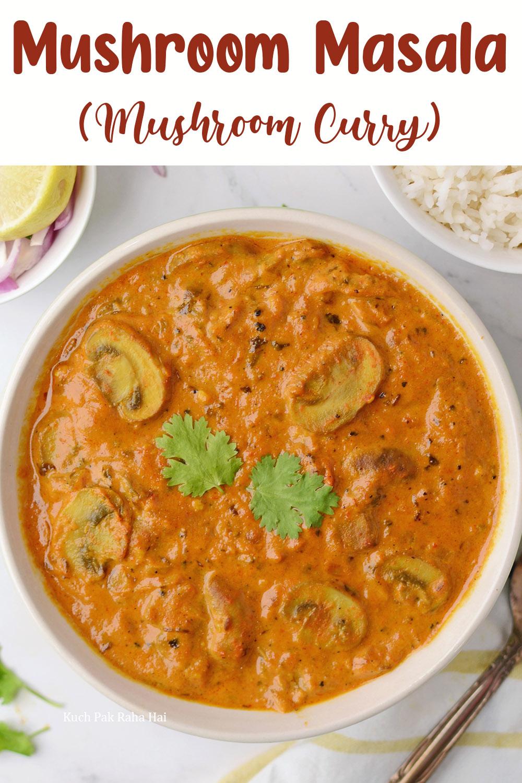 Mushroom Masala Gravy Vegan Recipe