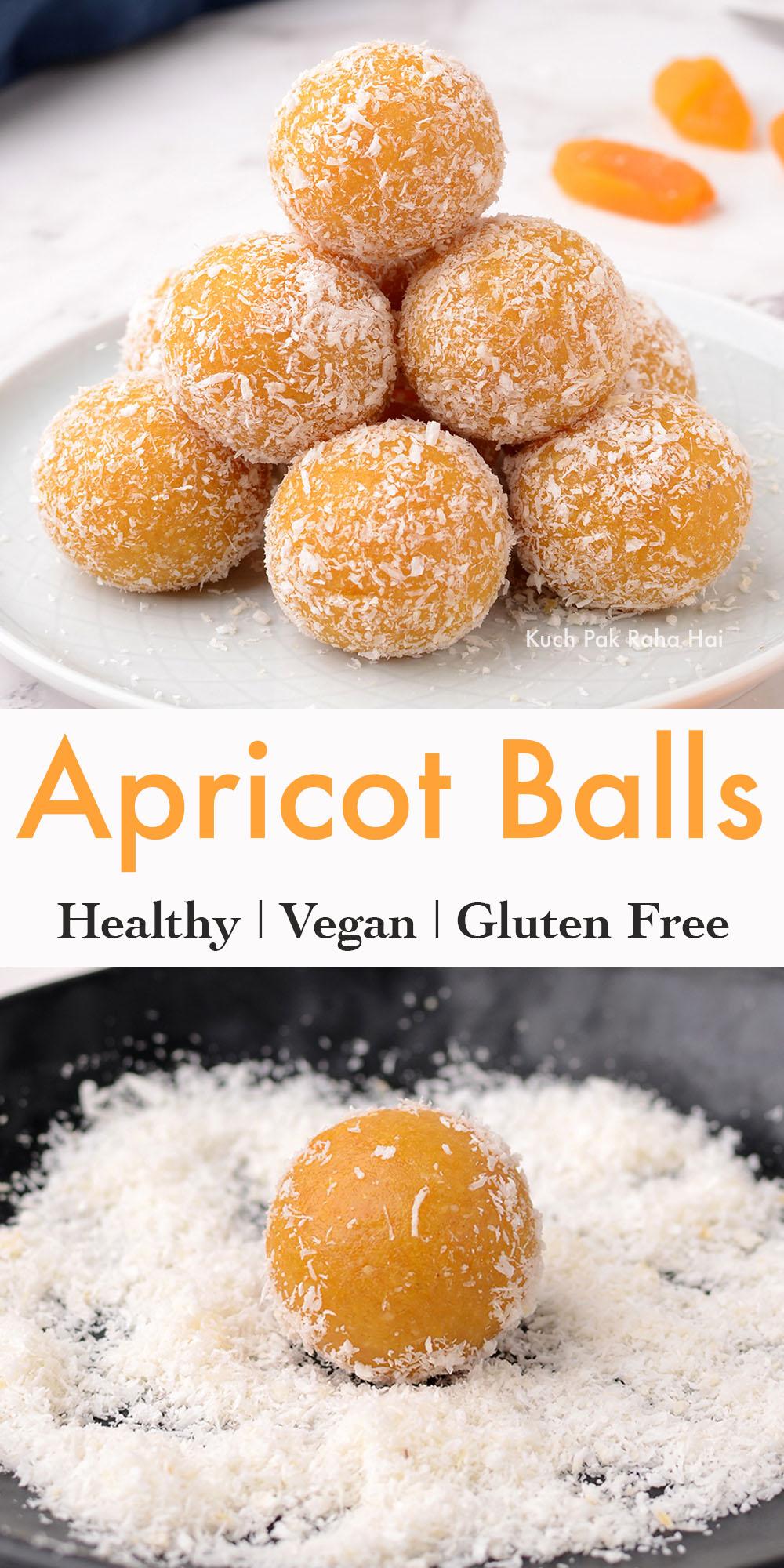 Healthy Apricot Bliss Balls Vegan Gluten Free