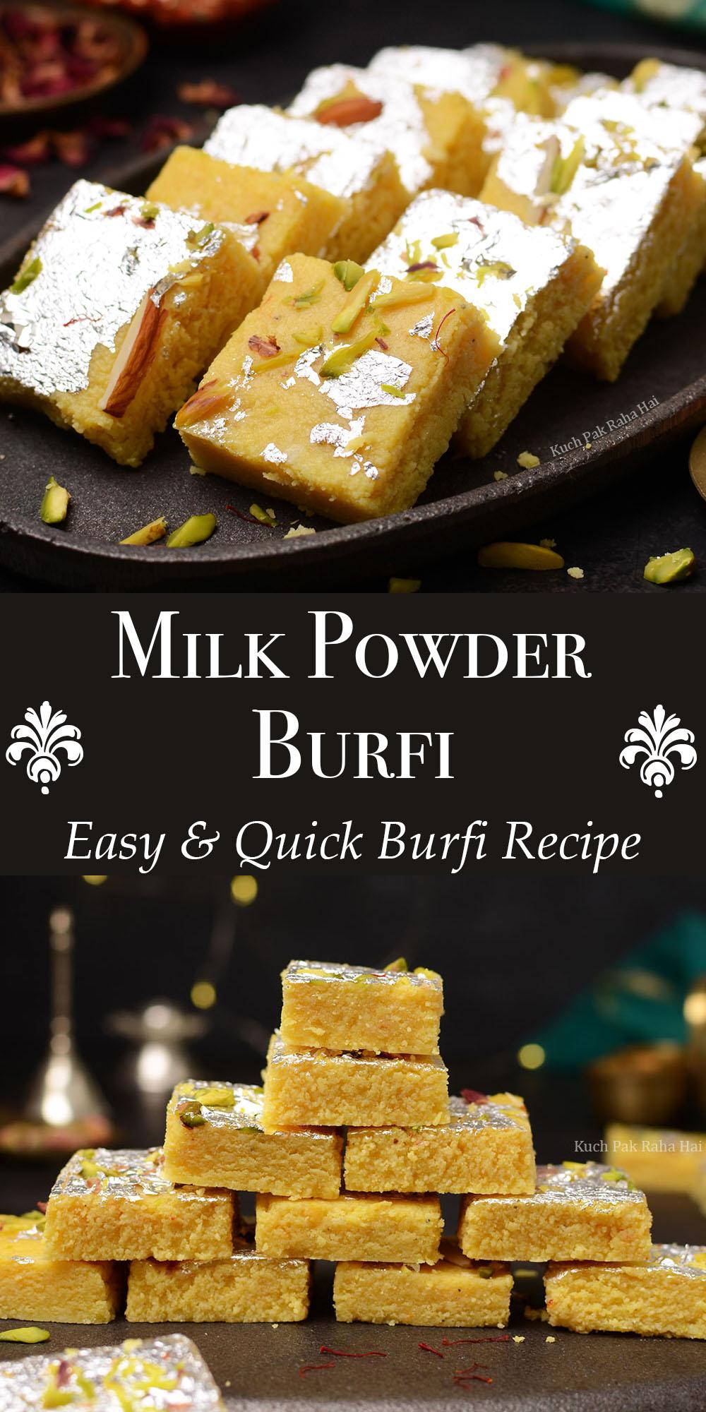 Easy Milk Powder Burfi Recipe