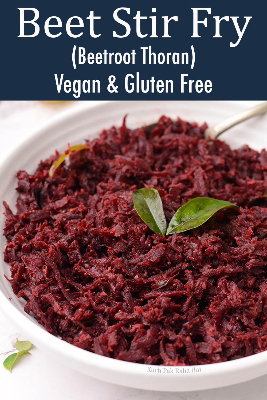beet stir fry vegan recipe